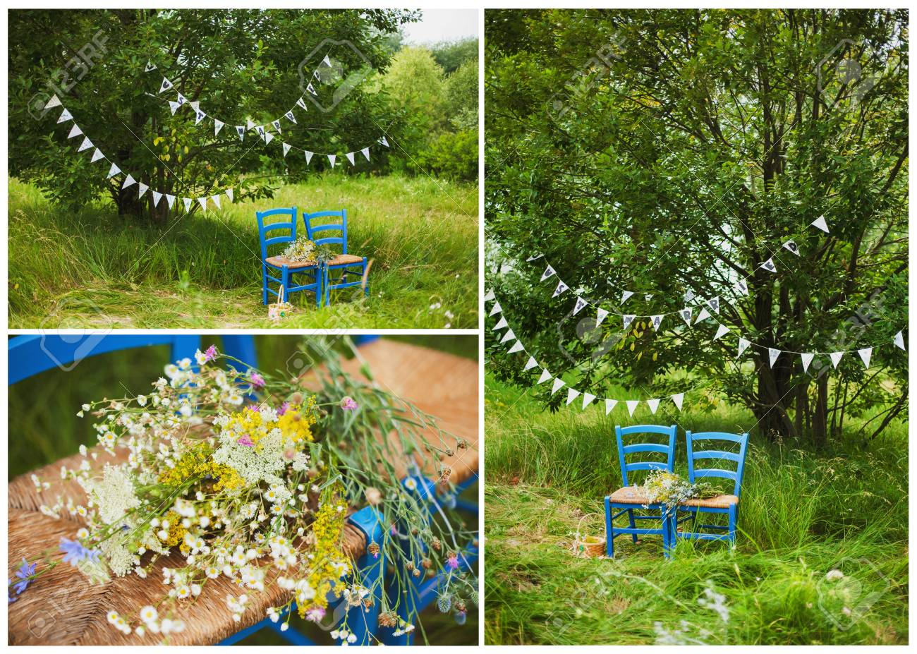 Decor Photobooth Collage Of Three Photos Of Wedding Decor For Photobooth 2 Blue