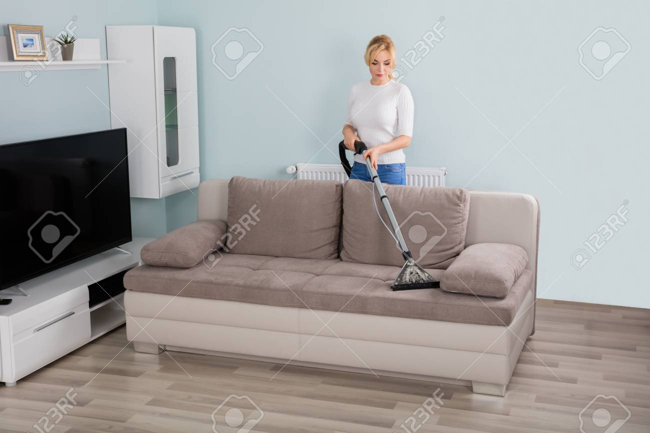 Sofa Putzen Stock Photo