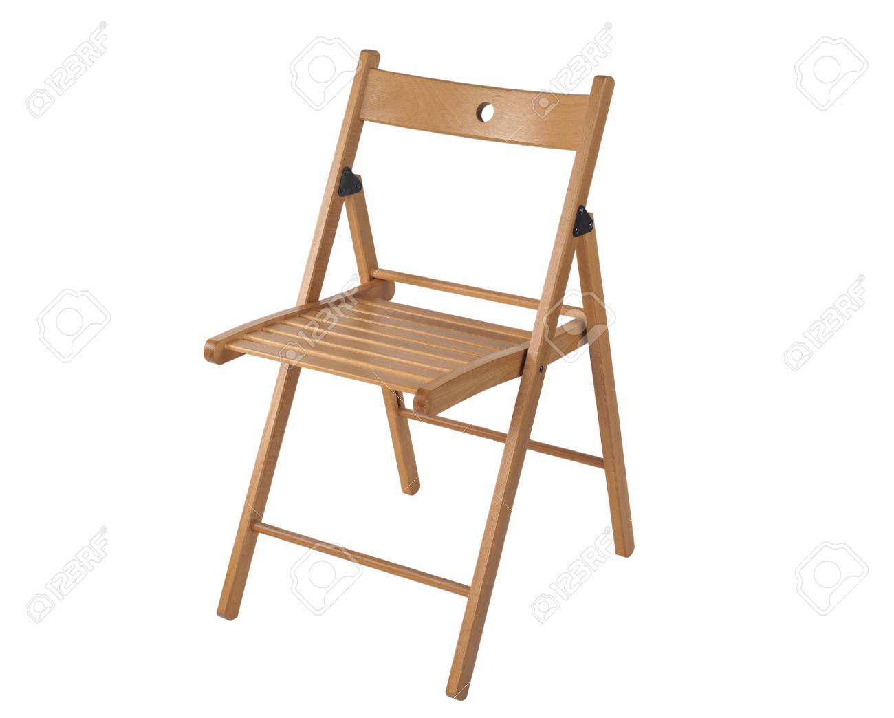 Folding Wooden Chairs Folding Wooden Chair Isolated On White Background