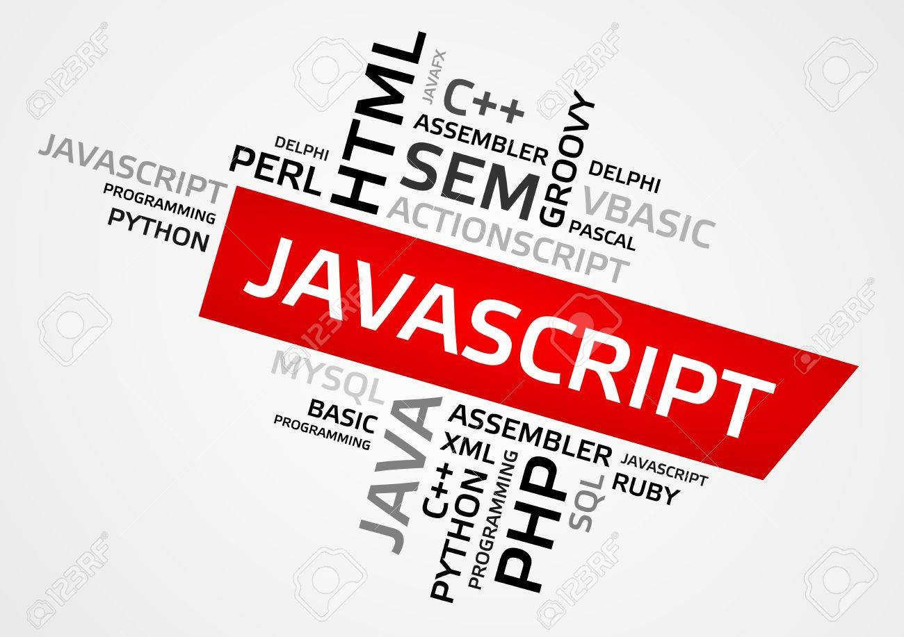 Javascript Cloud Javascript Word Cloud Tag Cloud Vector Graphics Programming