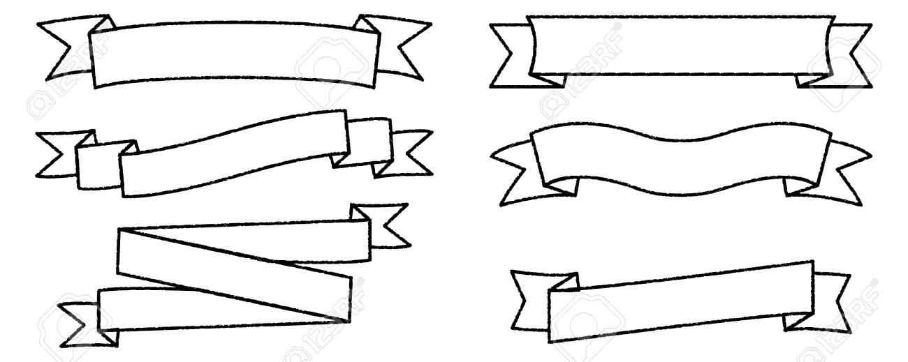 Single Blank Vintage Ribbon Banner Vector Logo Design, Scroll