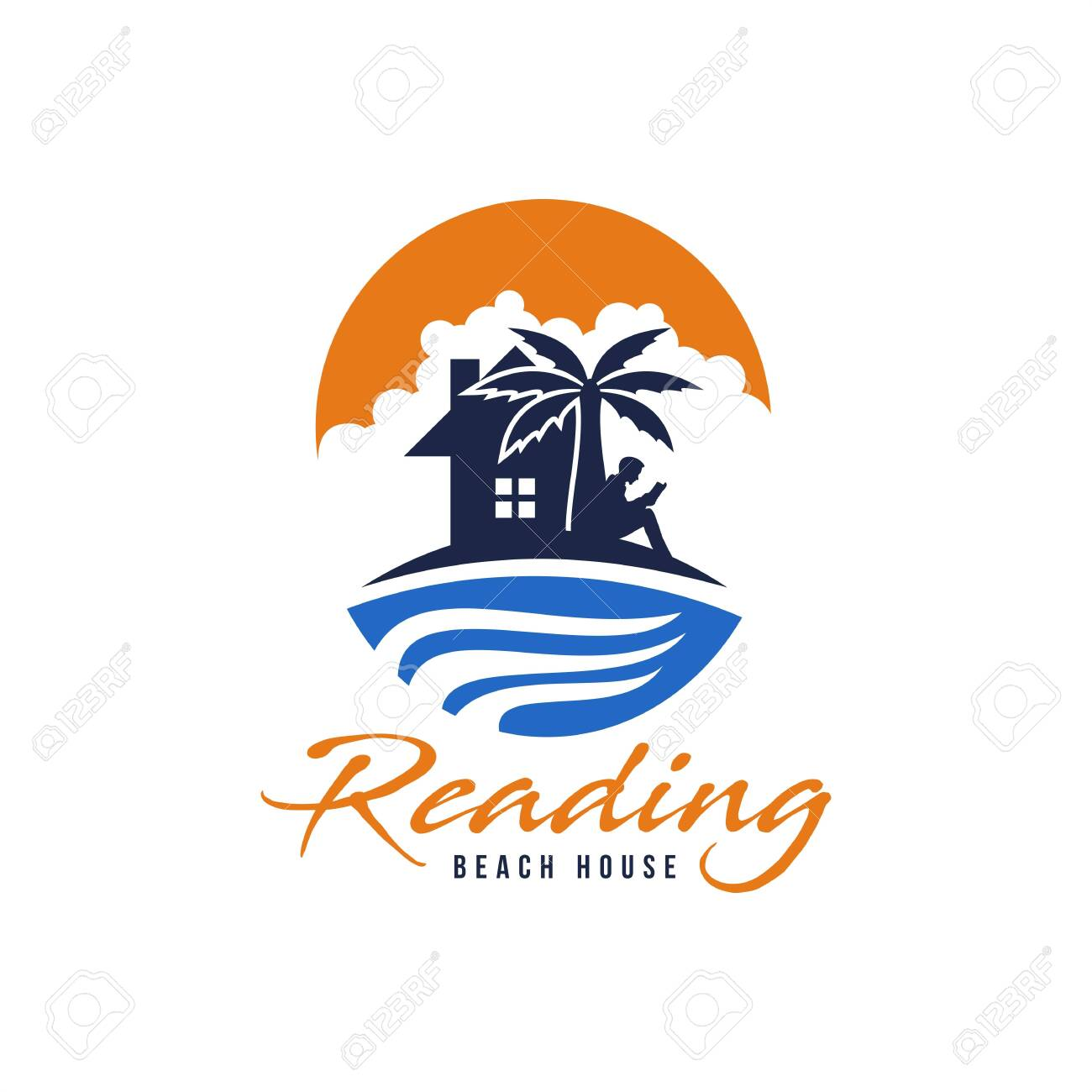 Reading Beach House Logo Vector Amazing Design For Your Company Royalty Free Cliparts Vectors And Stock Illustration Image 121179265
