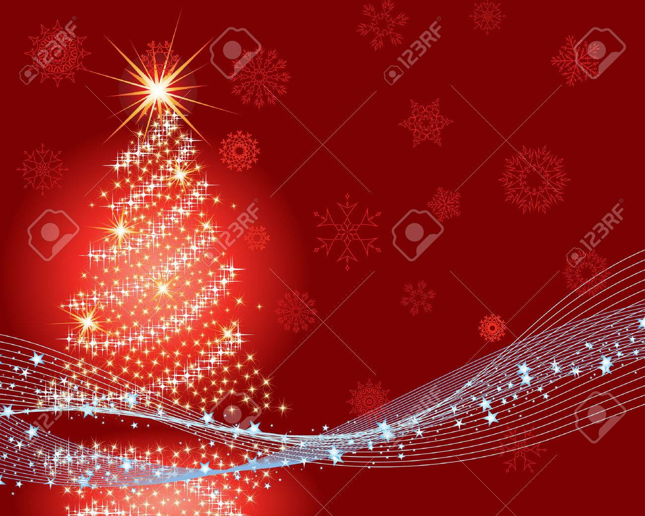 Beautiful vector christmas new year background for design use stock vector 5868452