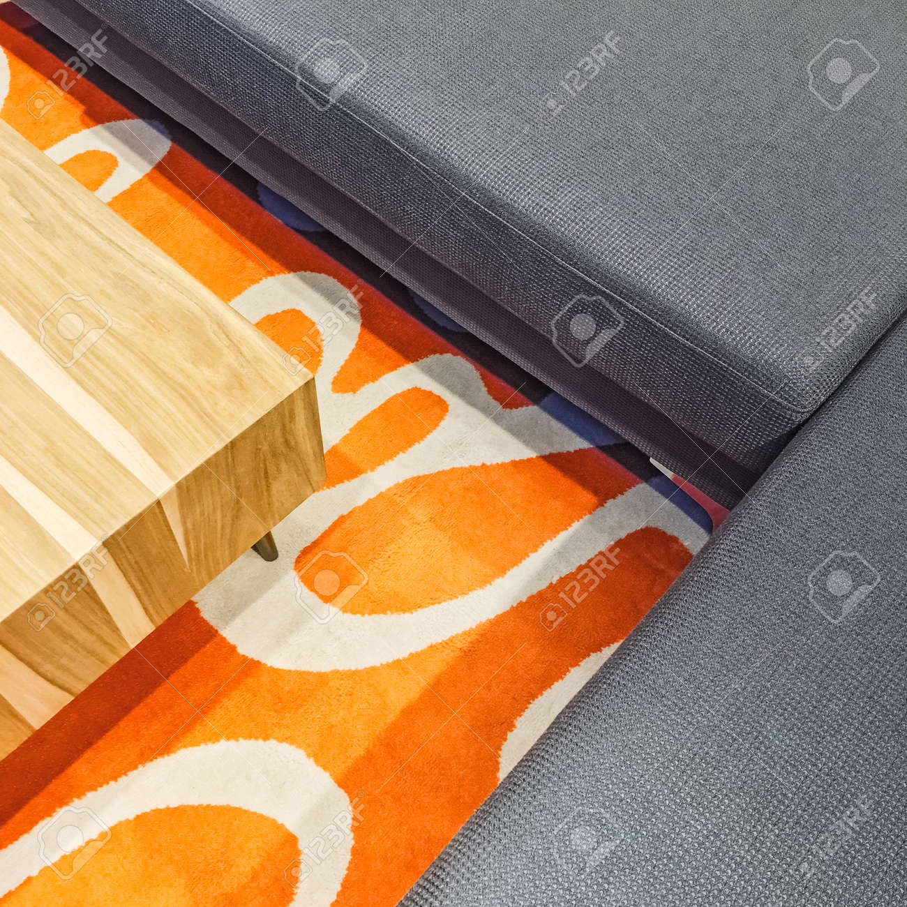 Couchtisch Ecksofa Stock Photo