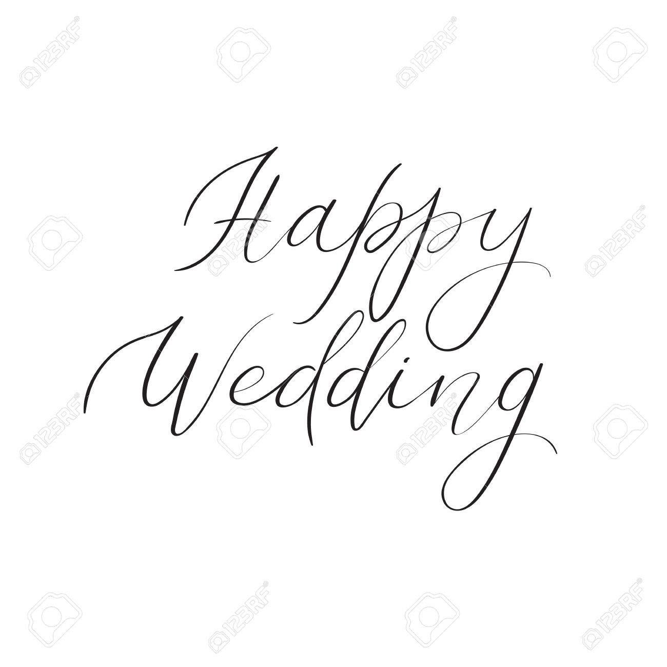 Wedding Calligraphy A Guide To Beautiful Hand Lettering Happy Wedding Hand Lettering Text Handwritten Calligraphy Greeting