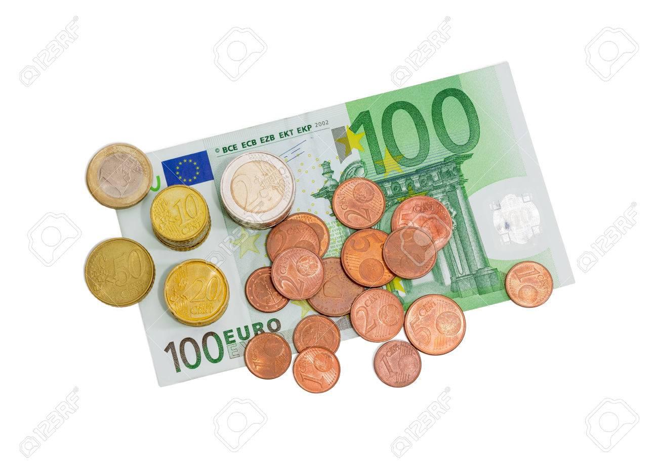 1 Euro Münze Wert Stock Photo