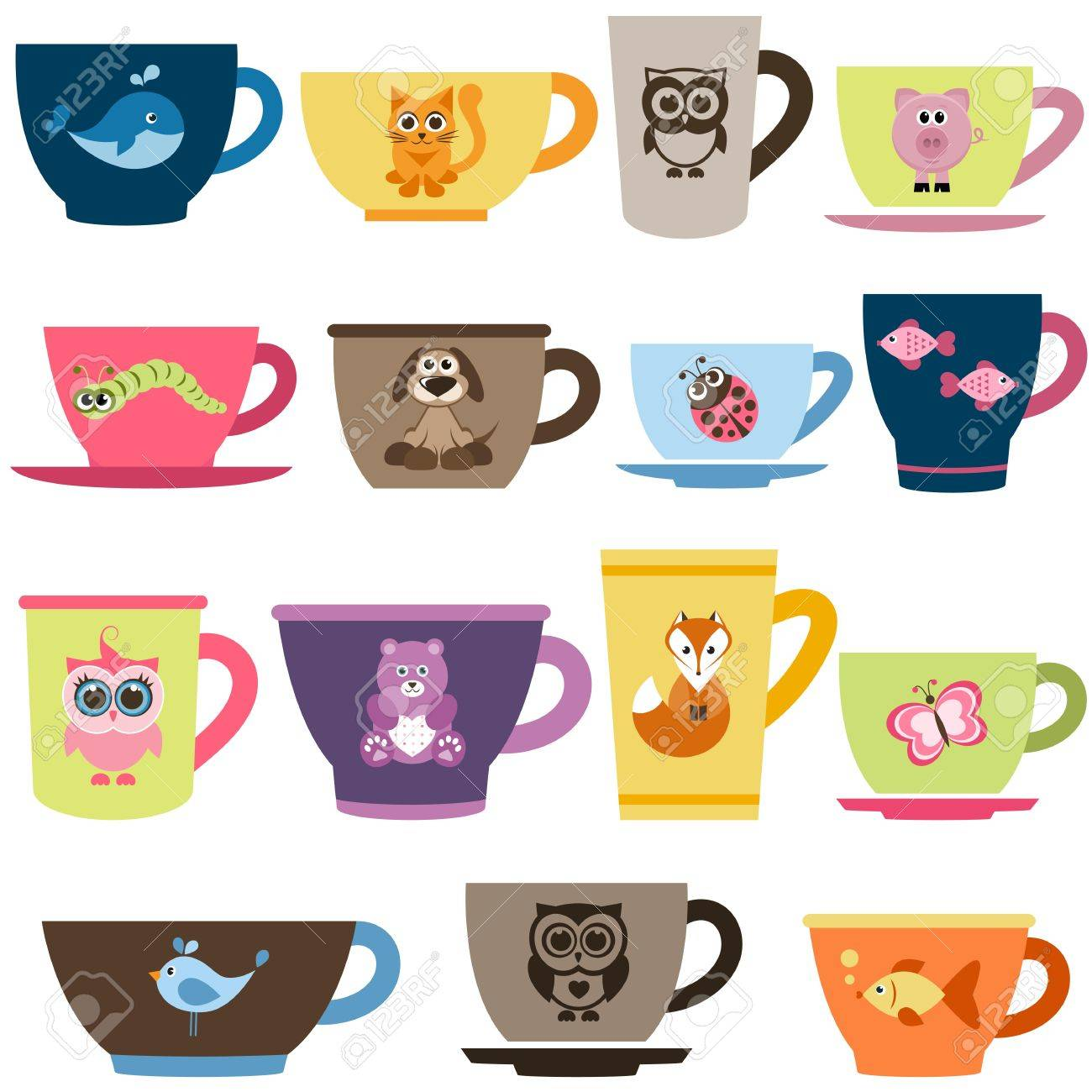 Animal Coffee Cups Coffee And Tea Cups With Animals