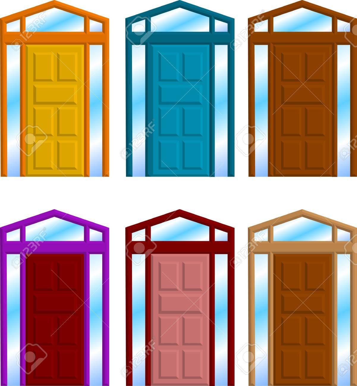 Inside Front Door Clipart house door clipart cartoon home door stock