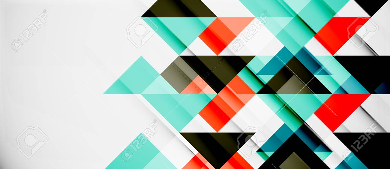 Triangle Pattern Design Background Vector Business Or Technology