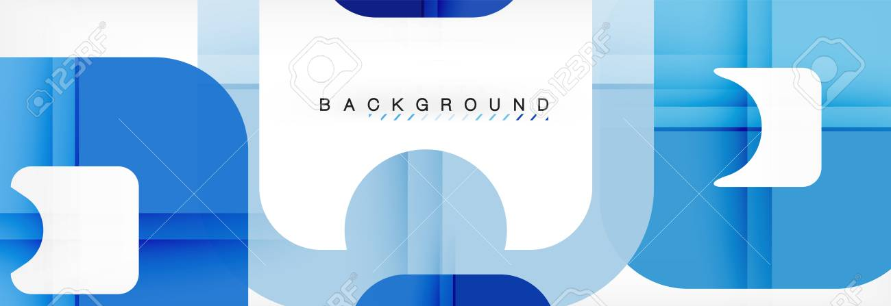 Square Geometric Background, Multicolored Template For Business