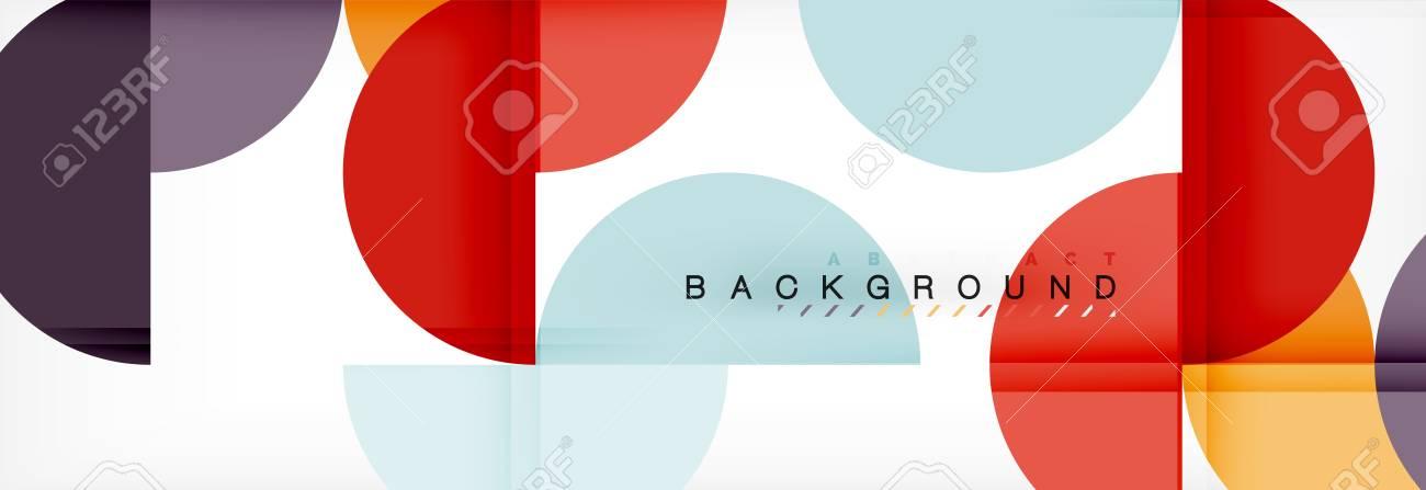 Semi Circle Abstract Background, Modern Geometric Pattern Design