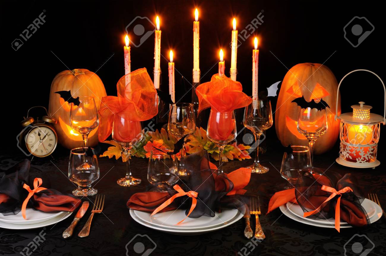 Decoration De Table Pour Halloween Festive Décoration De Table Pour Halloween