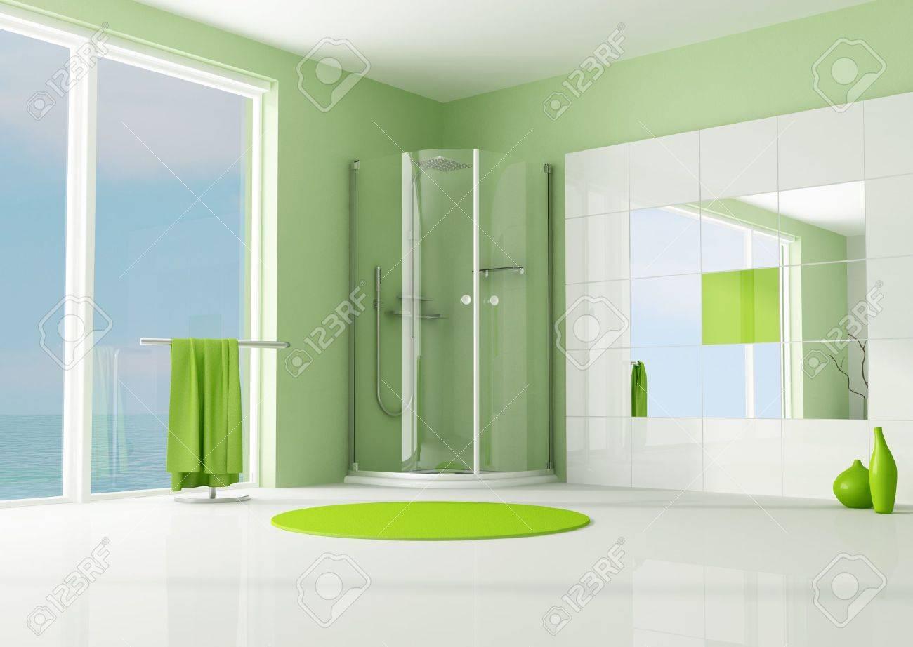 Piastrella verde acido ristrutturazione di un bagno con