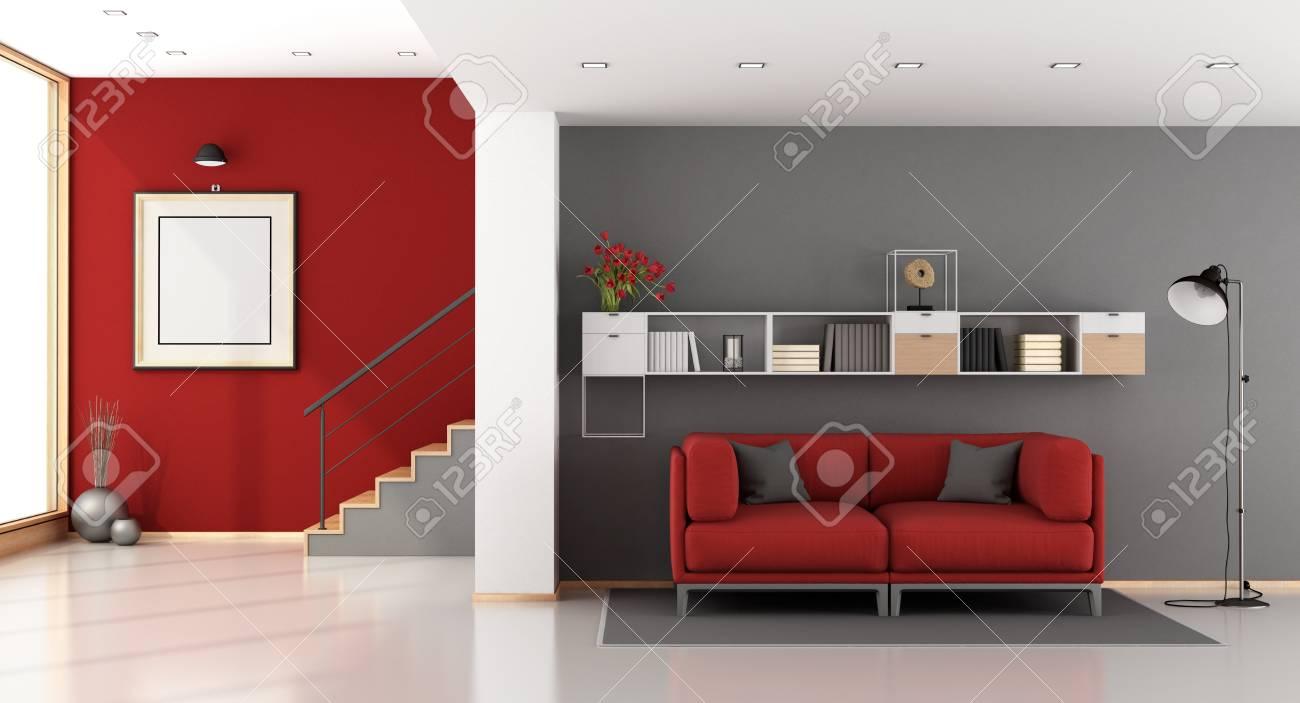 Canapé Moderne Rouge