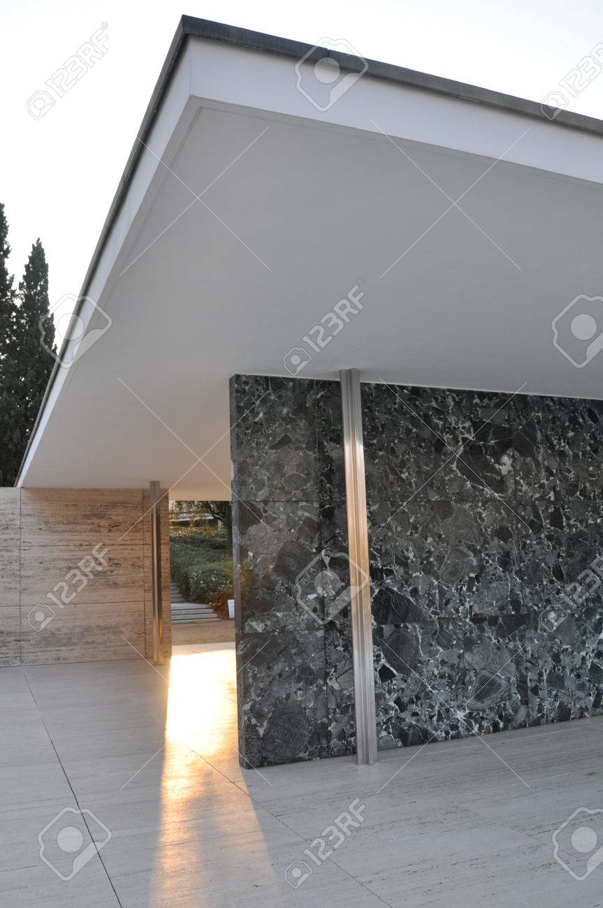 Barcelona Pavilion By Ludwig Mies Van Der Rohe Stock Photo Picture And Royalty Free Image Image 62425580