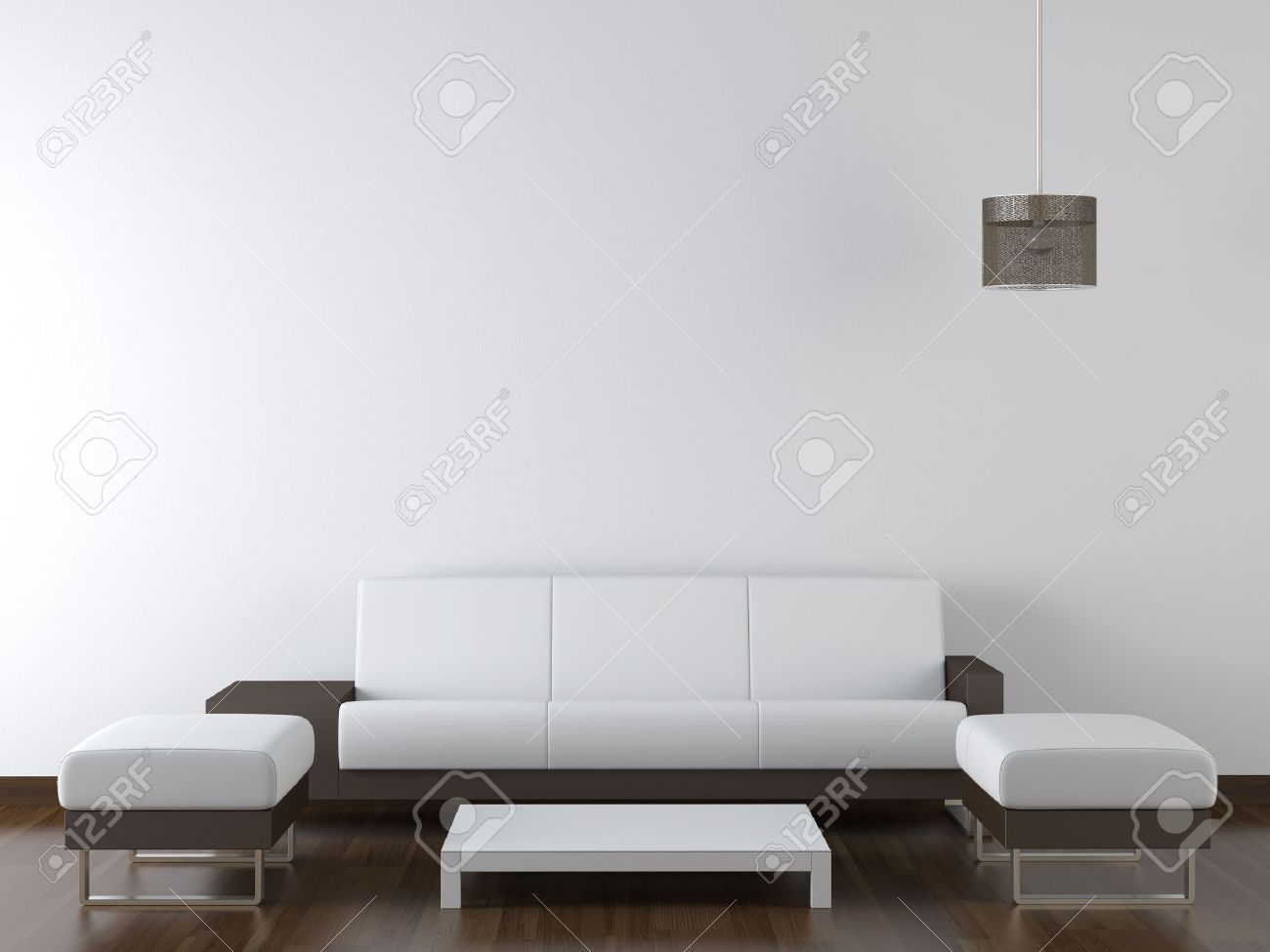 Wohnzimmer Design Braun Stock Photo