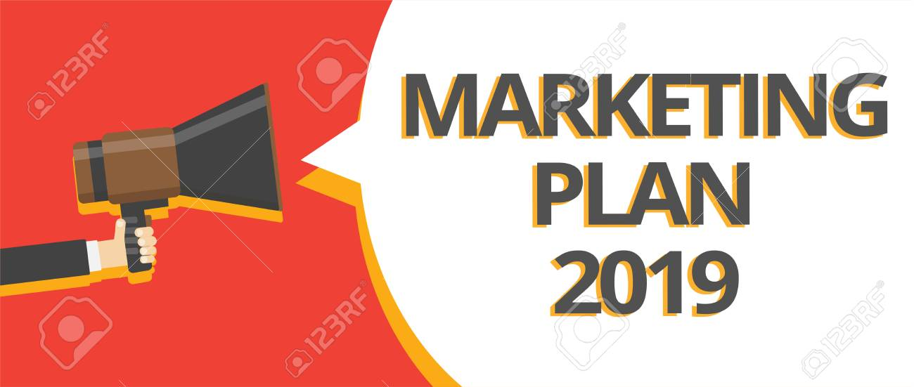 Word Writing Text Marketing Plan 2019 Business Concept For Schedule