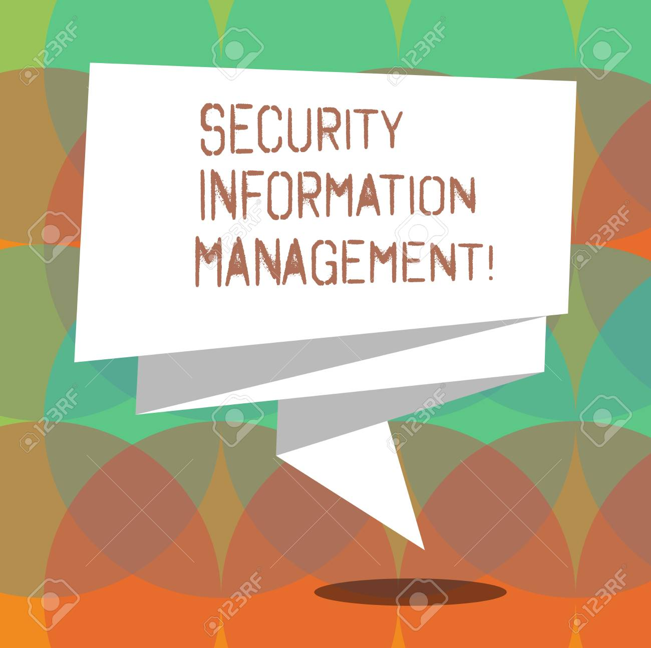Secu Strip Word Writing Text Security Information Management Business Concept