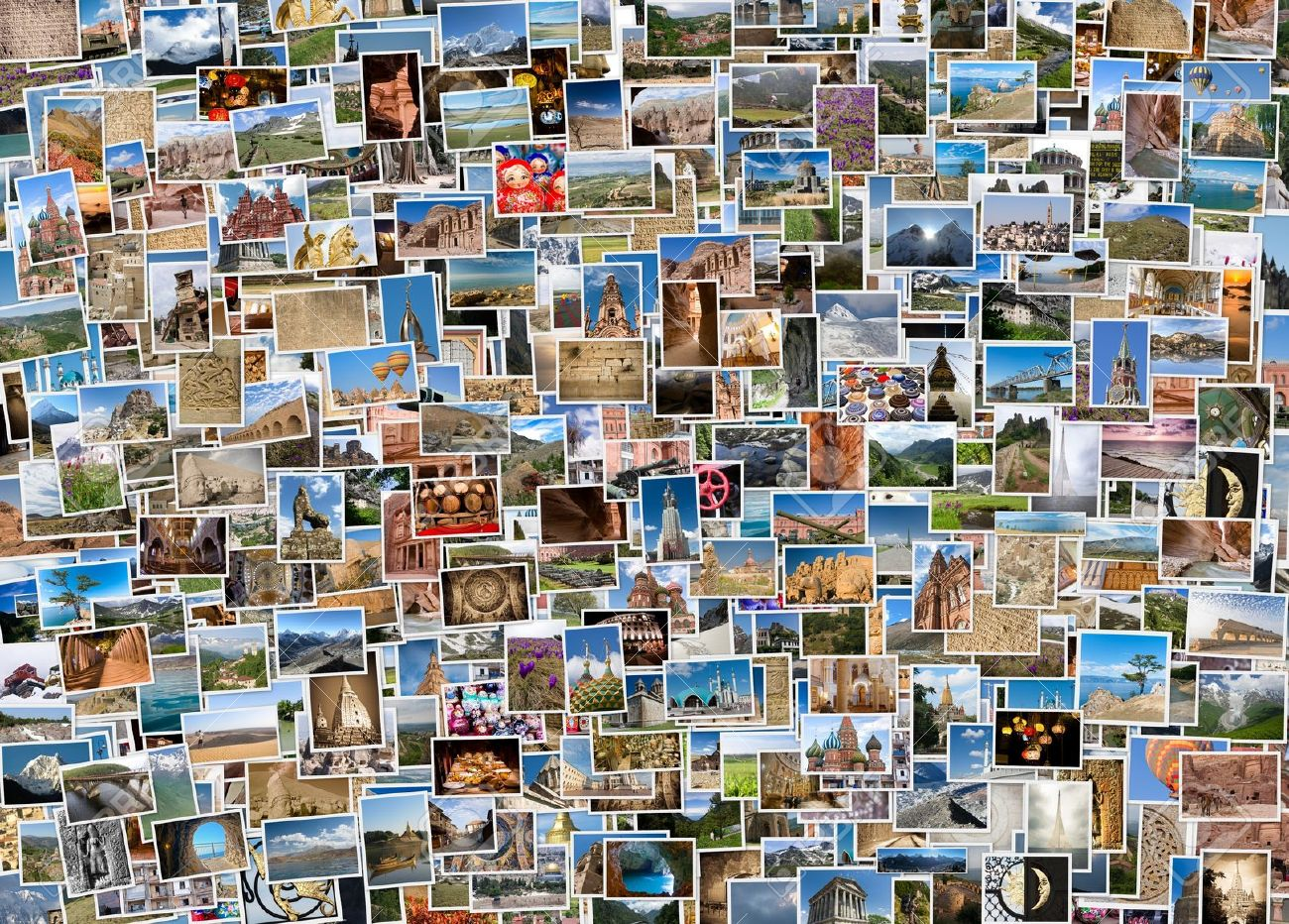 Collage Fotos A Collage Of Travel Photos From Around The World