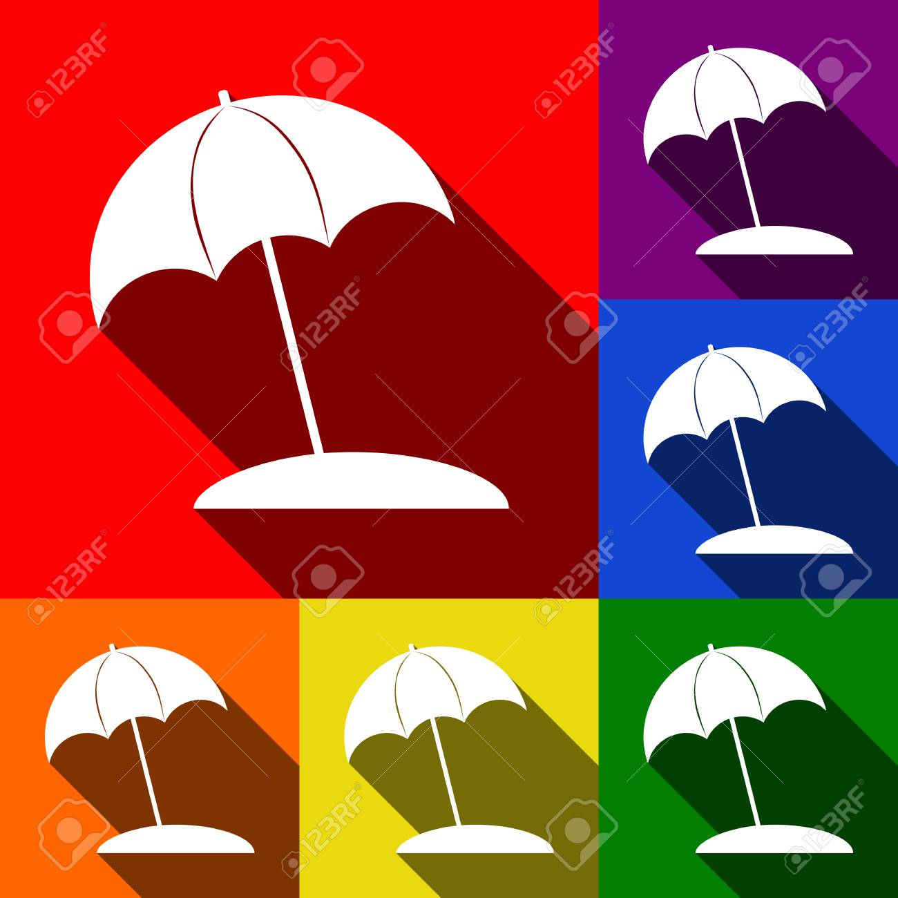 Sonnenliege Clipart Umbrella And Sun Lounger Sign Vector Set Of Icons With Flat