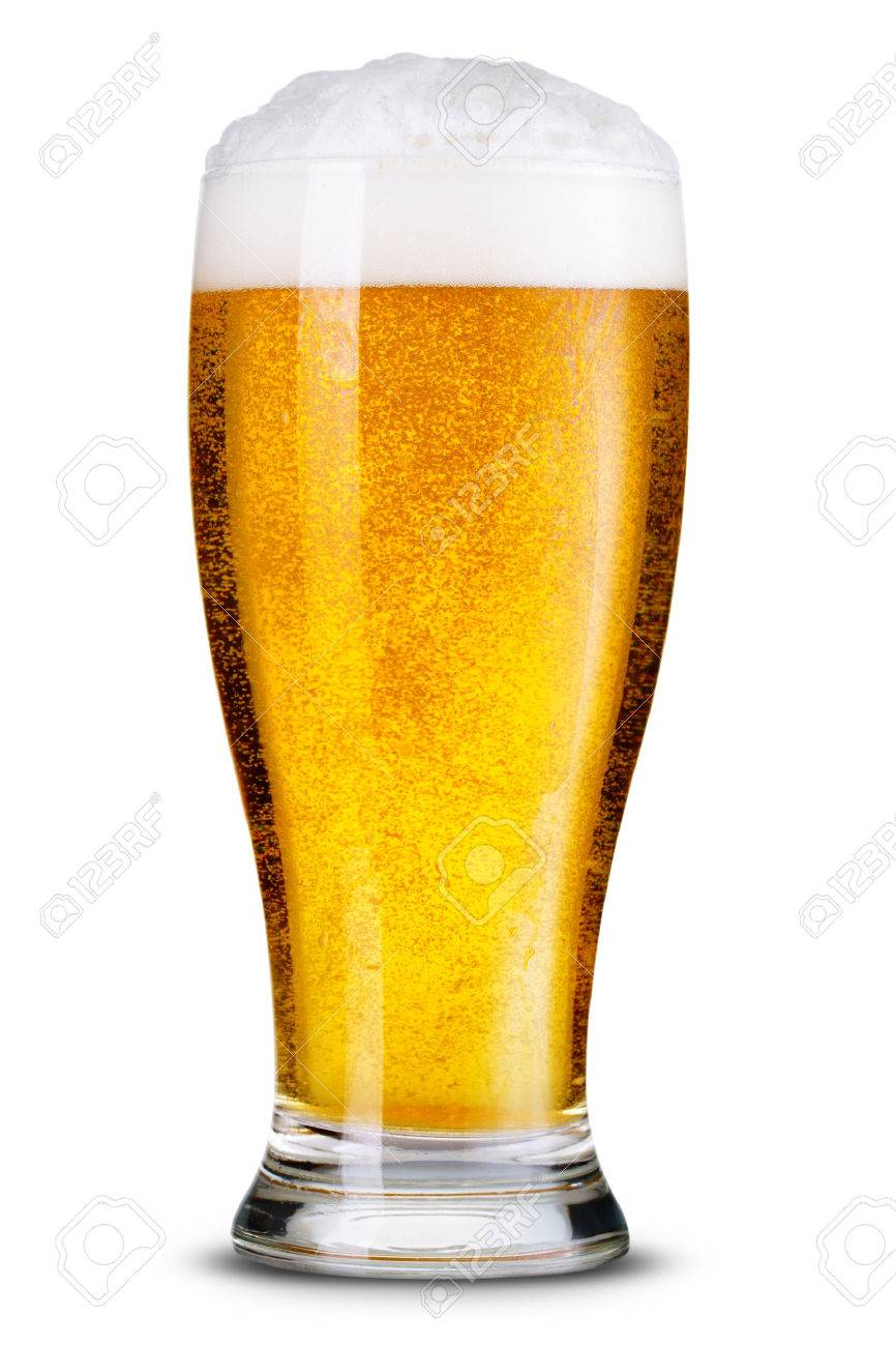 Bier Glas Glass Of Beer Isolated
