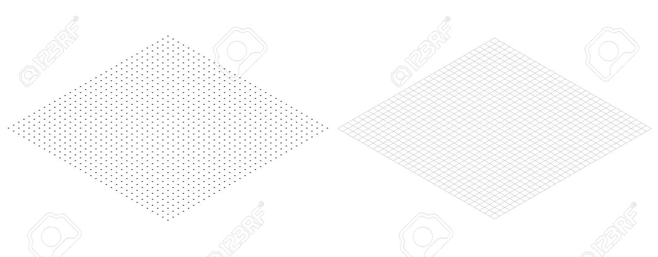 Isometric Grid Line Paper Isometric Grid Dots Vector Royalty Free - free isometric paper
