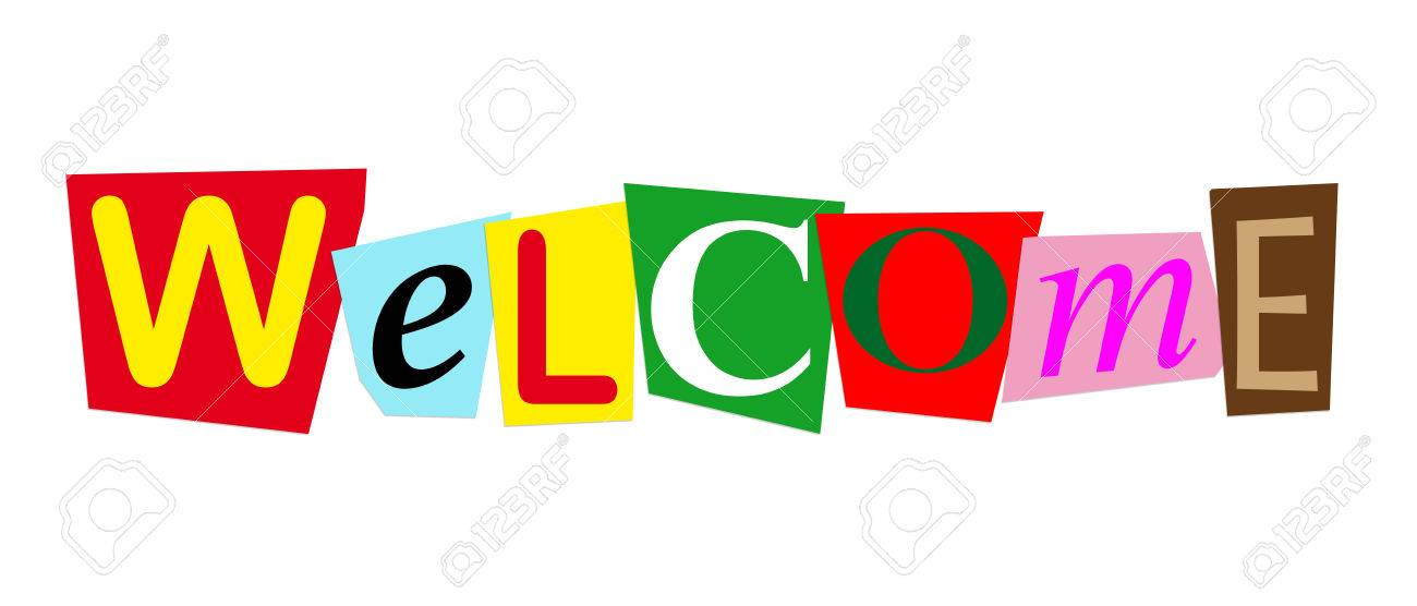 Word Welcome In Colorful Cut Out Letters Stock Photo, Picture And