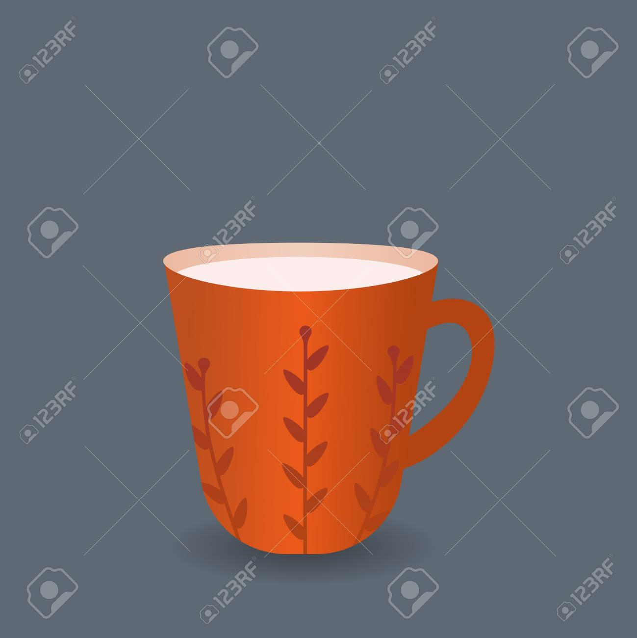Mug A Cafe Coffee Mug Vector Icon The Symbol Of Coffee Break Rest In A