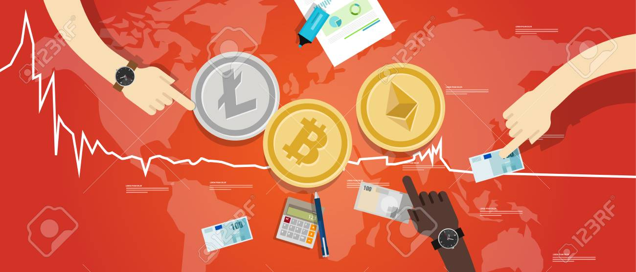 Crypto-currency Bitcoin Ethereum Litecoin Price Value Market