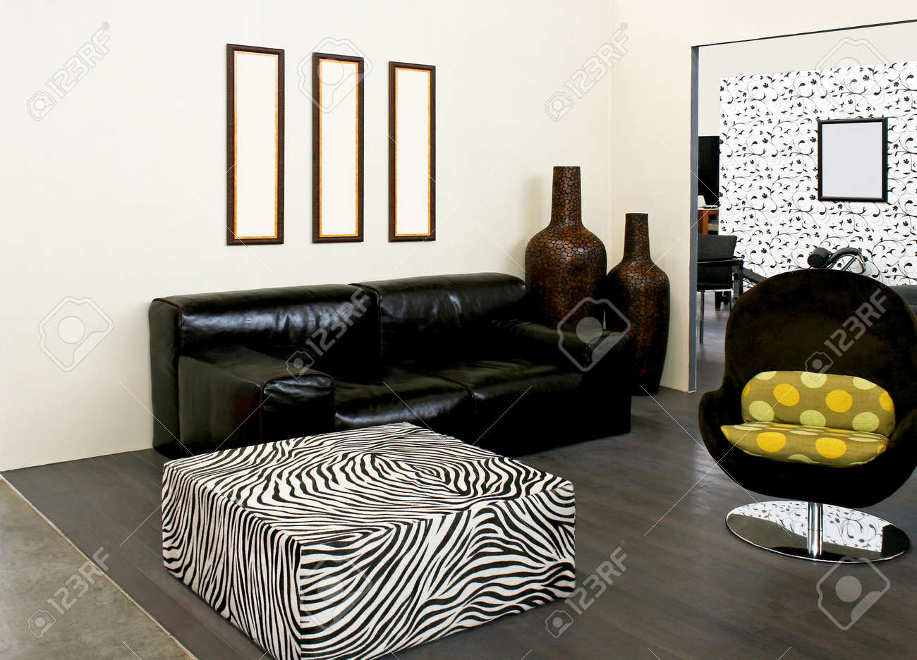 African Style Living Room Living Room In African Style With Zebra