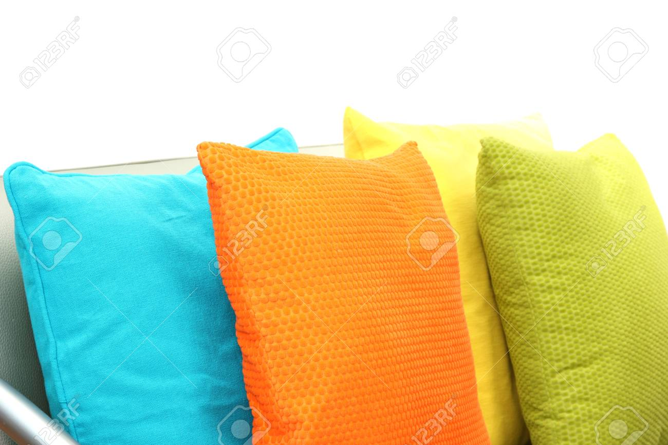 Bunte Kissen Stock Photo