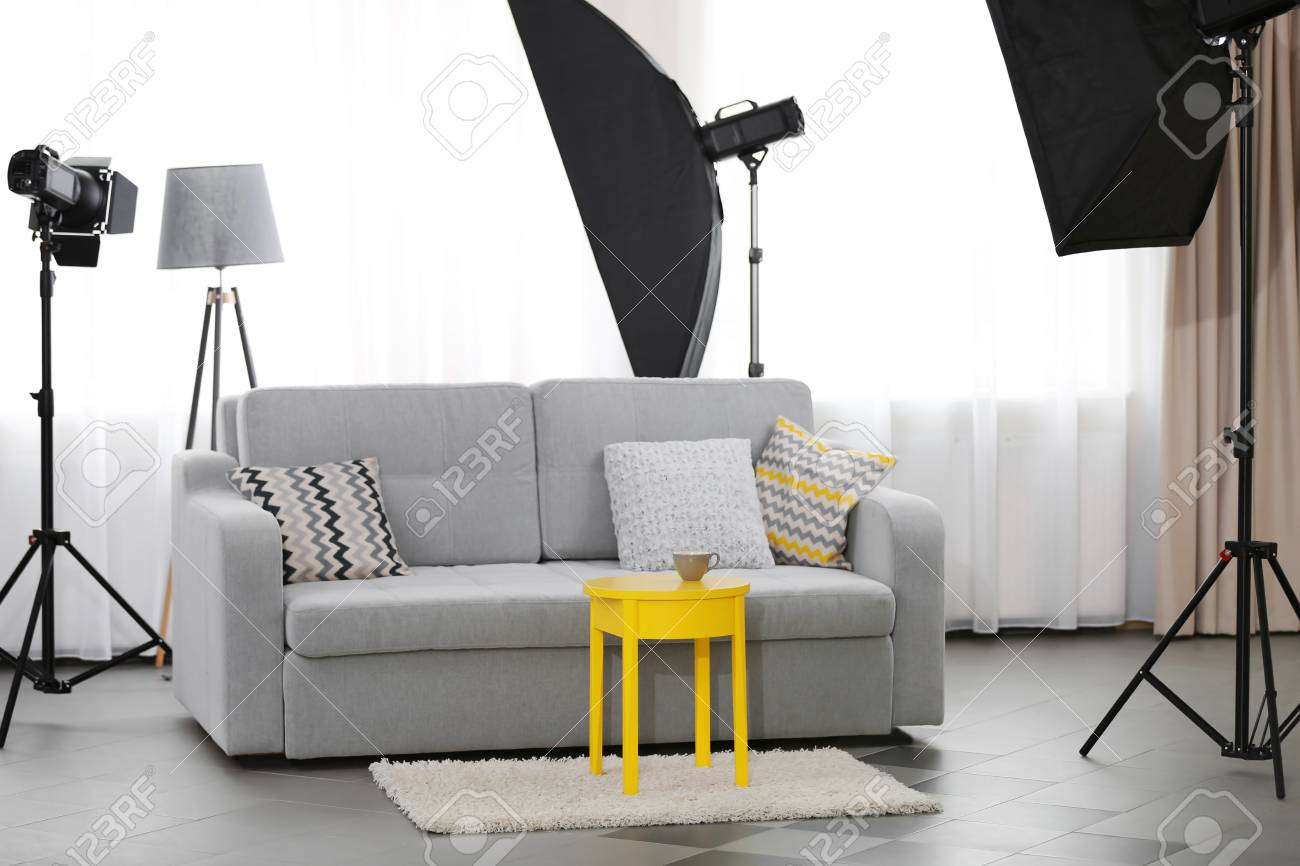 Wohnzimmer Fotostudio Stock Photo