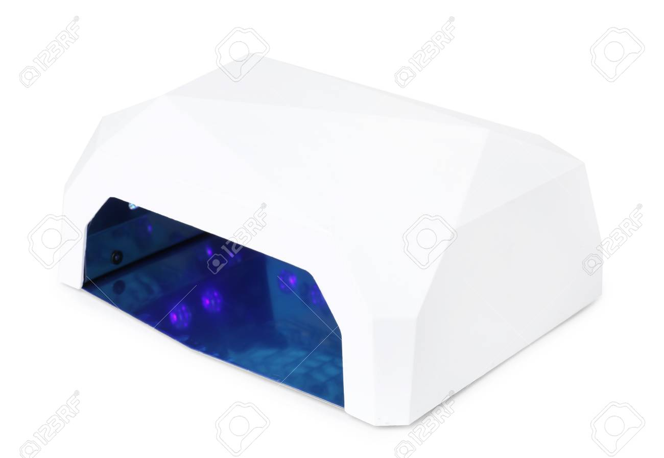 Ultraviolet Lamp Ultraviolet Lamp For Manicure On White Background