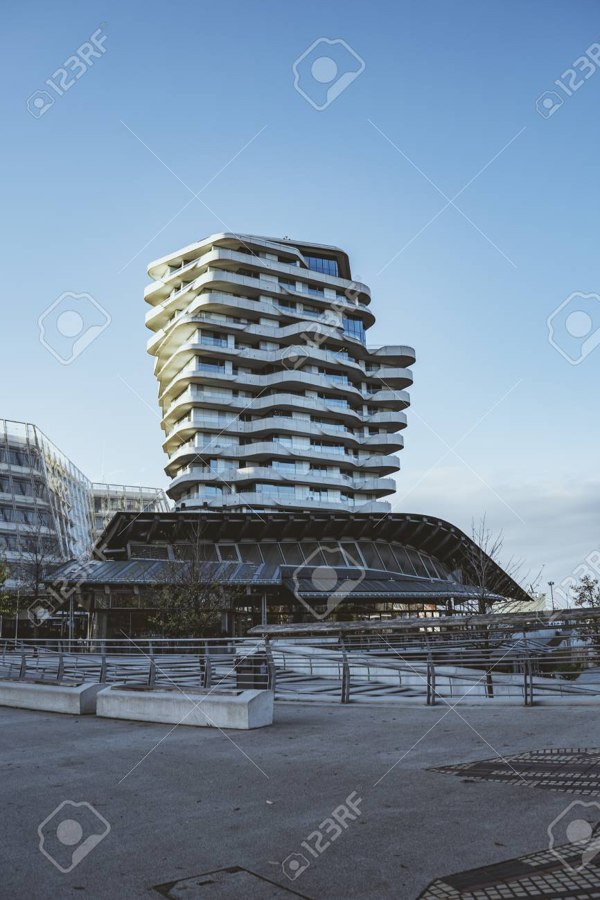 Marco Polo Tower Marco Polo Tower Apartments Futuristic Residential Building In.. Stock Photo, Picture And Royalty Free Image. Image 114645160.