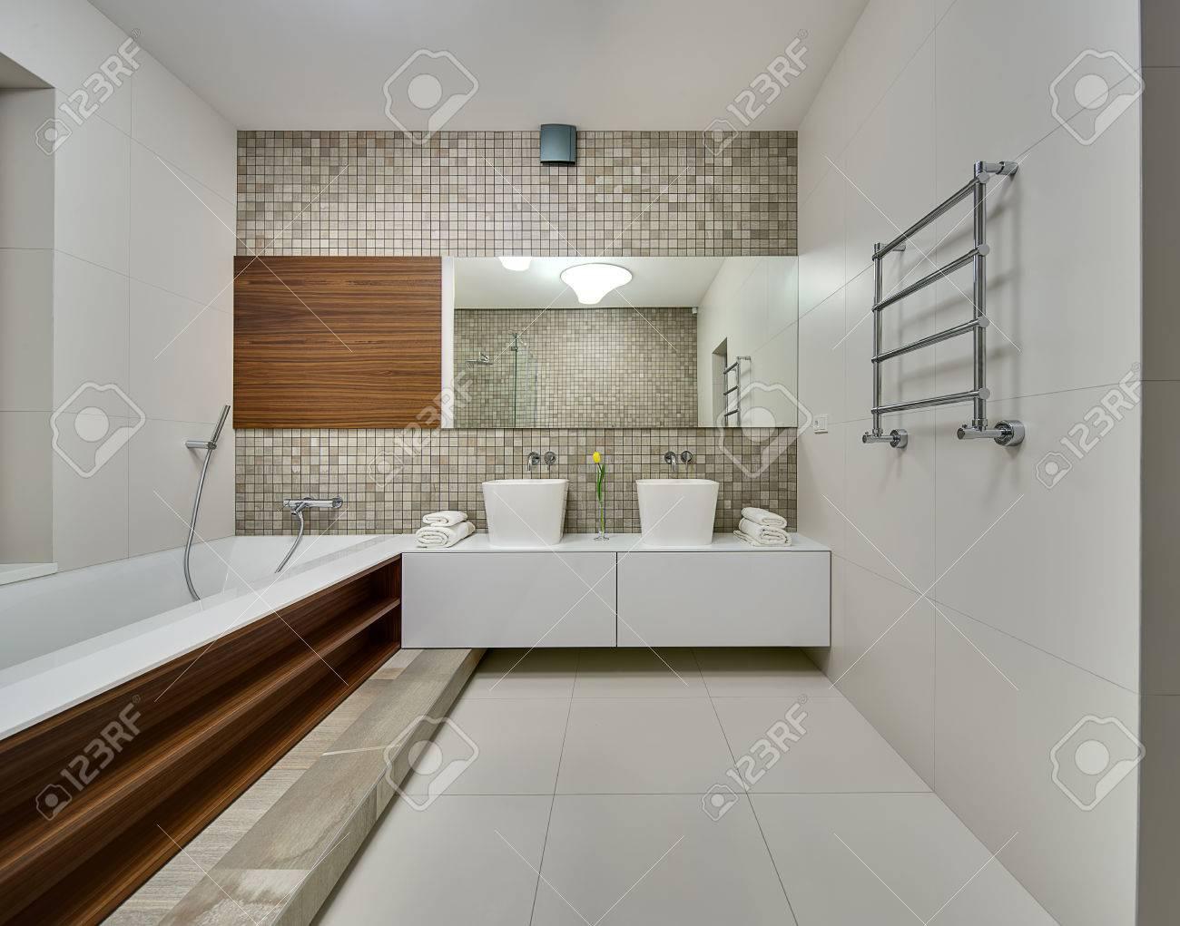 Piastrelle bagno legno d rendering bianco esagono piastrelle