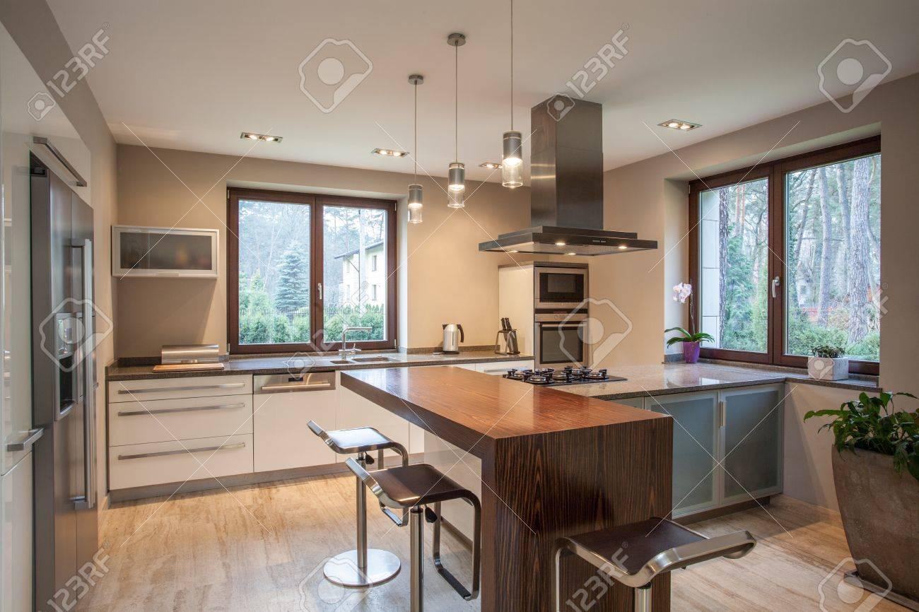 Soggiorno Cucina A Vista Moderno | Moderno Open Space Con Soggiorno ...