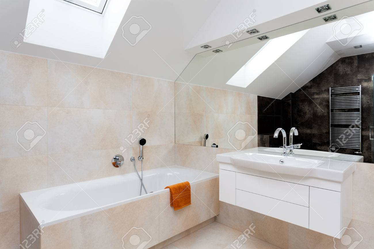 Huge Mirror Bathroom With Huge Mirror Bath And White Sink