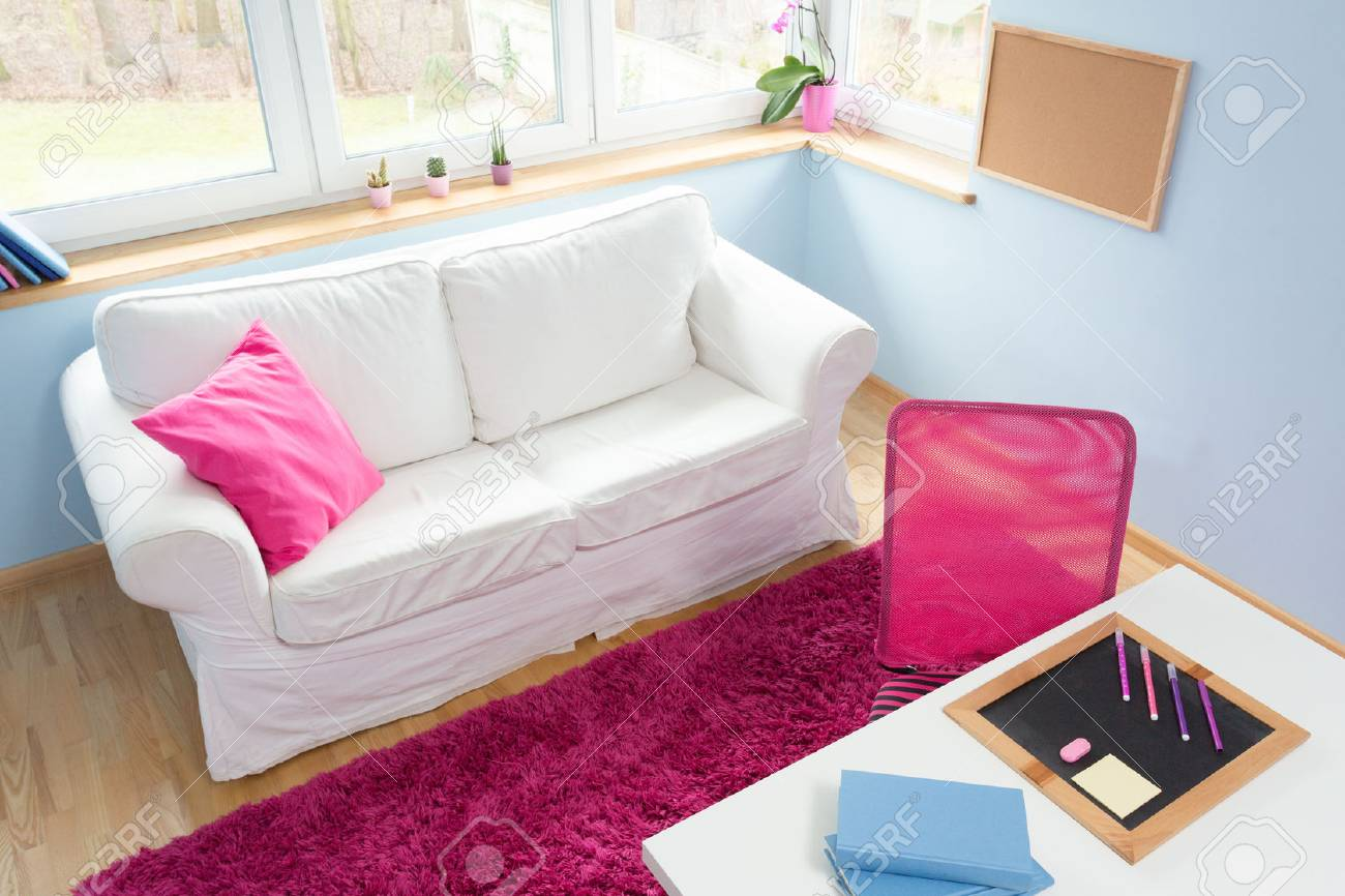 Little Couch For Bedroom Little Girl Cute Modern Bedroom With White Sofa