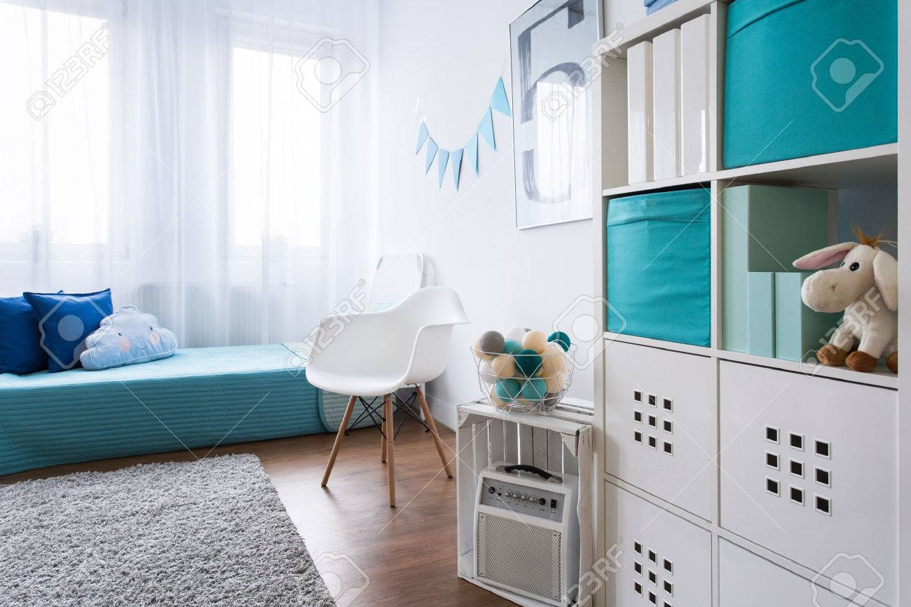 Zimmer In Grau Stock Photo