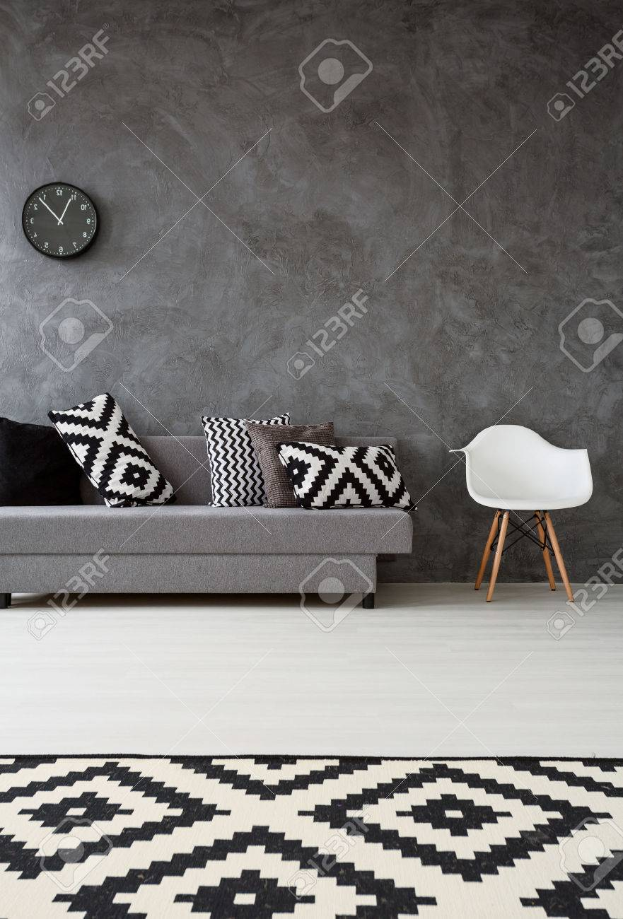 Wohnzimmer Sofa Sessel Stock Photo