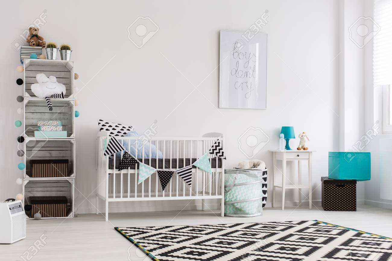 Babies Room Accessories Bright Baby Room In Scandinavian Style With Blue Accessories