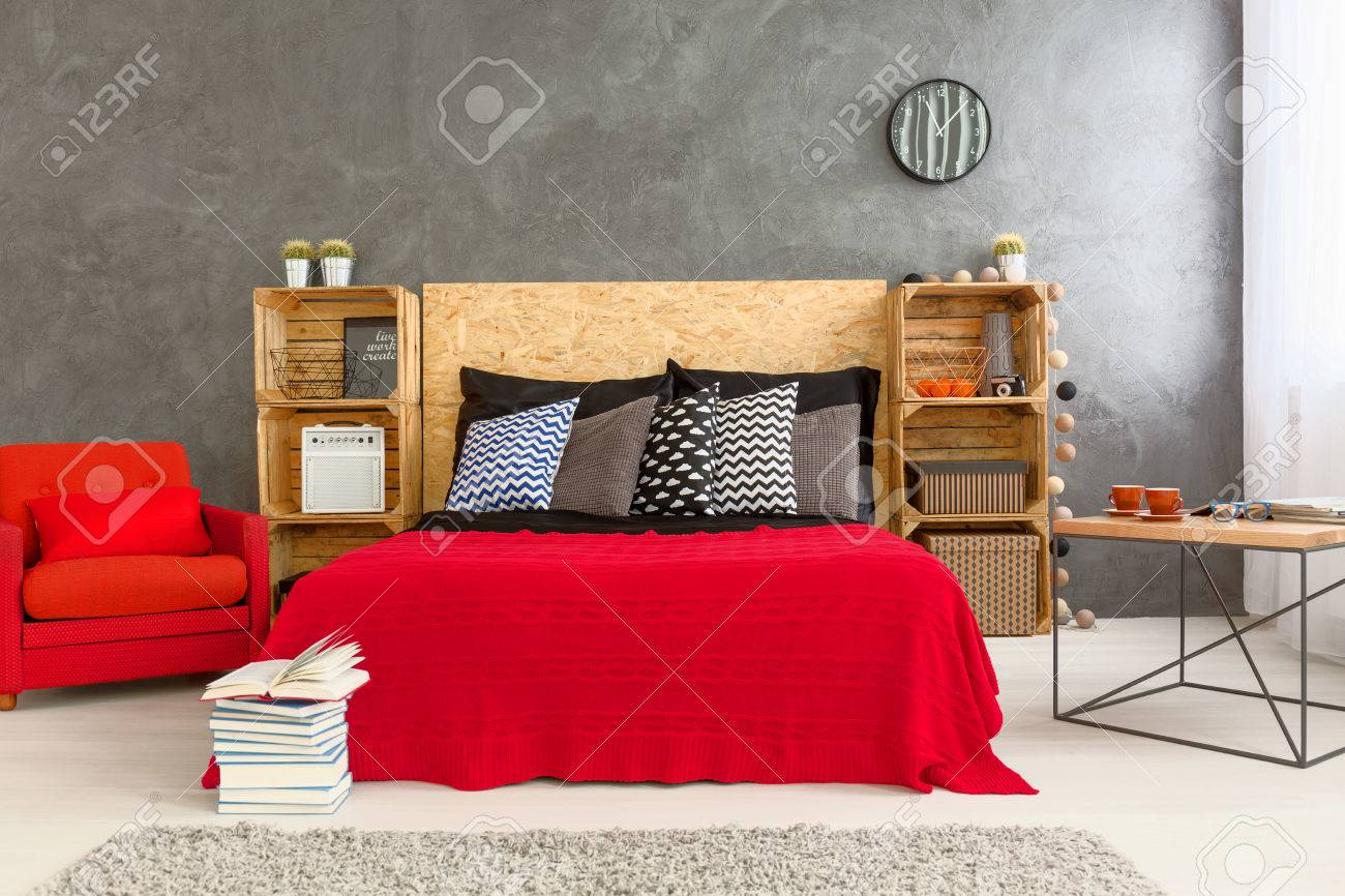 Schlafzimmer Wand Modern Stock Photo