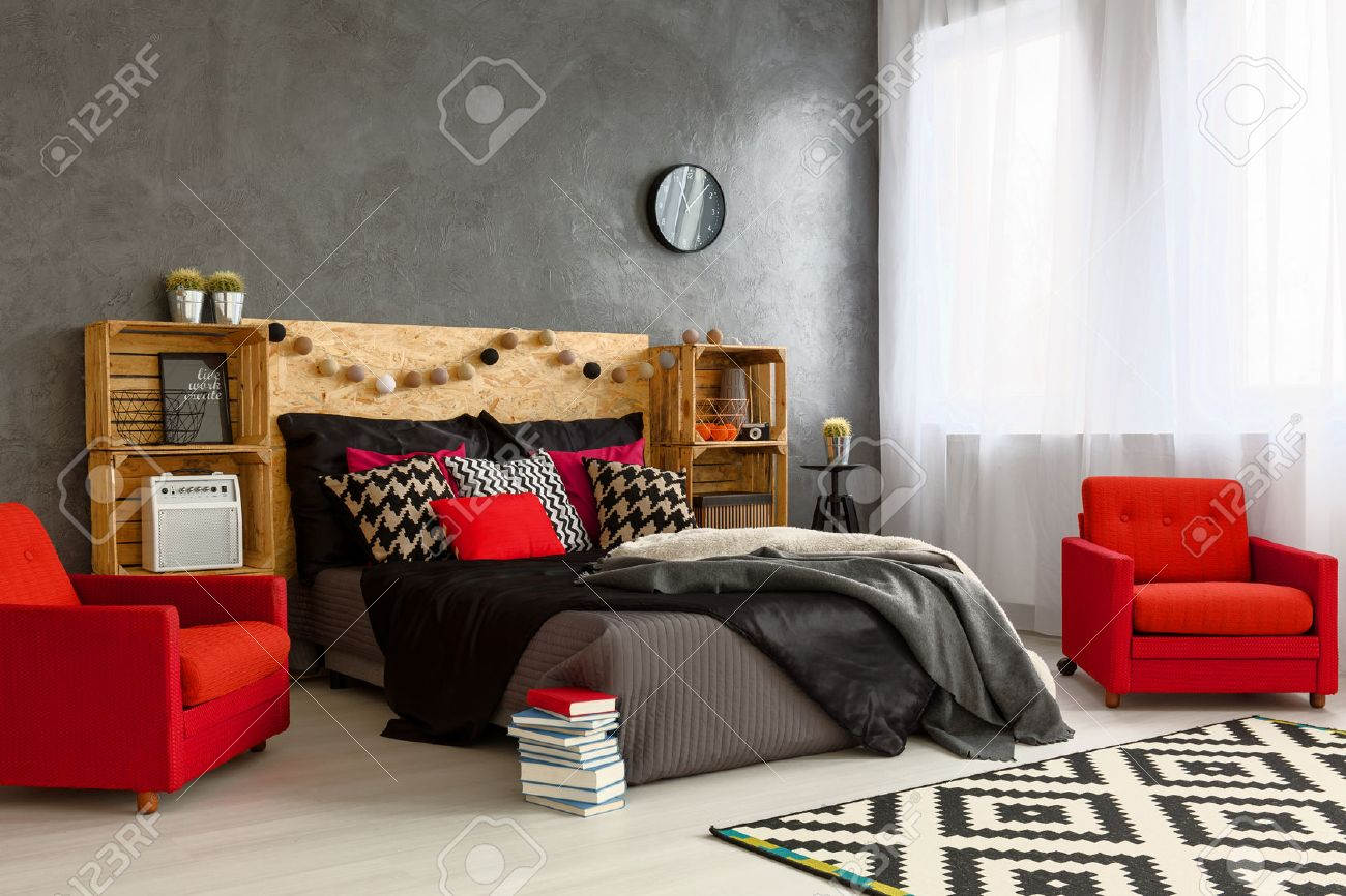 Neues Schlafzimmer Stock Photo
