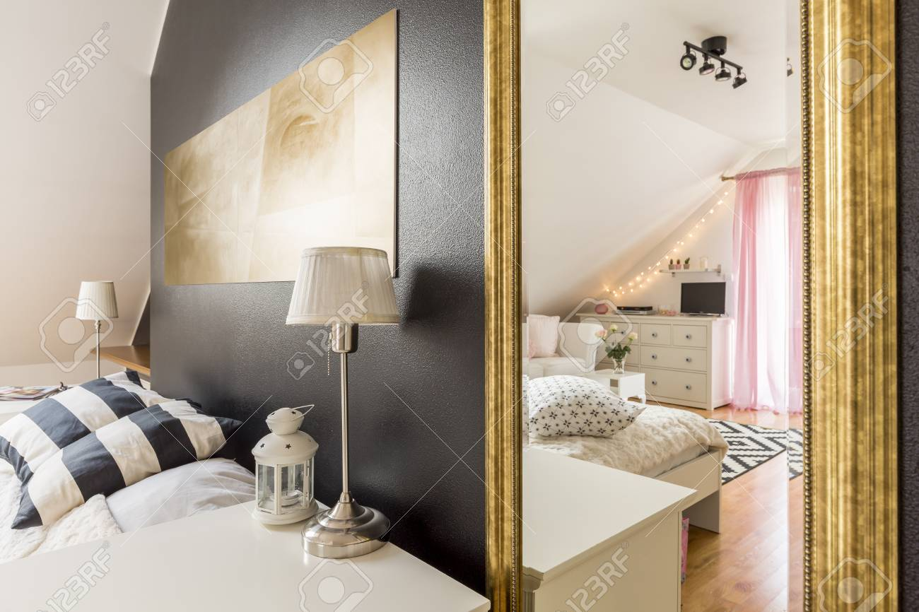 Wand Schlafzimmer Stock Photo