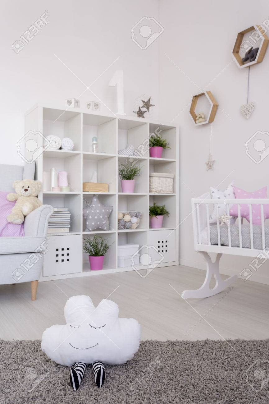 Babies Room Accessories Baby Room Corner With A Large Rack Filled With Baby Accessories