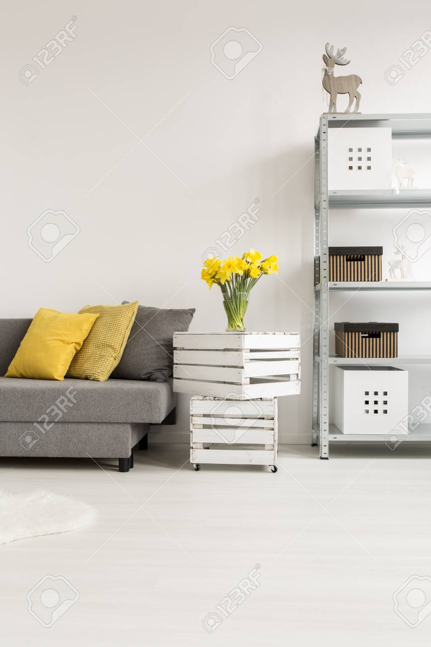 Ecksofa Minimalistisch Stock Photo