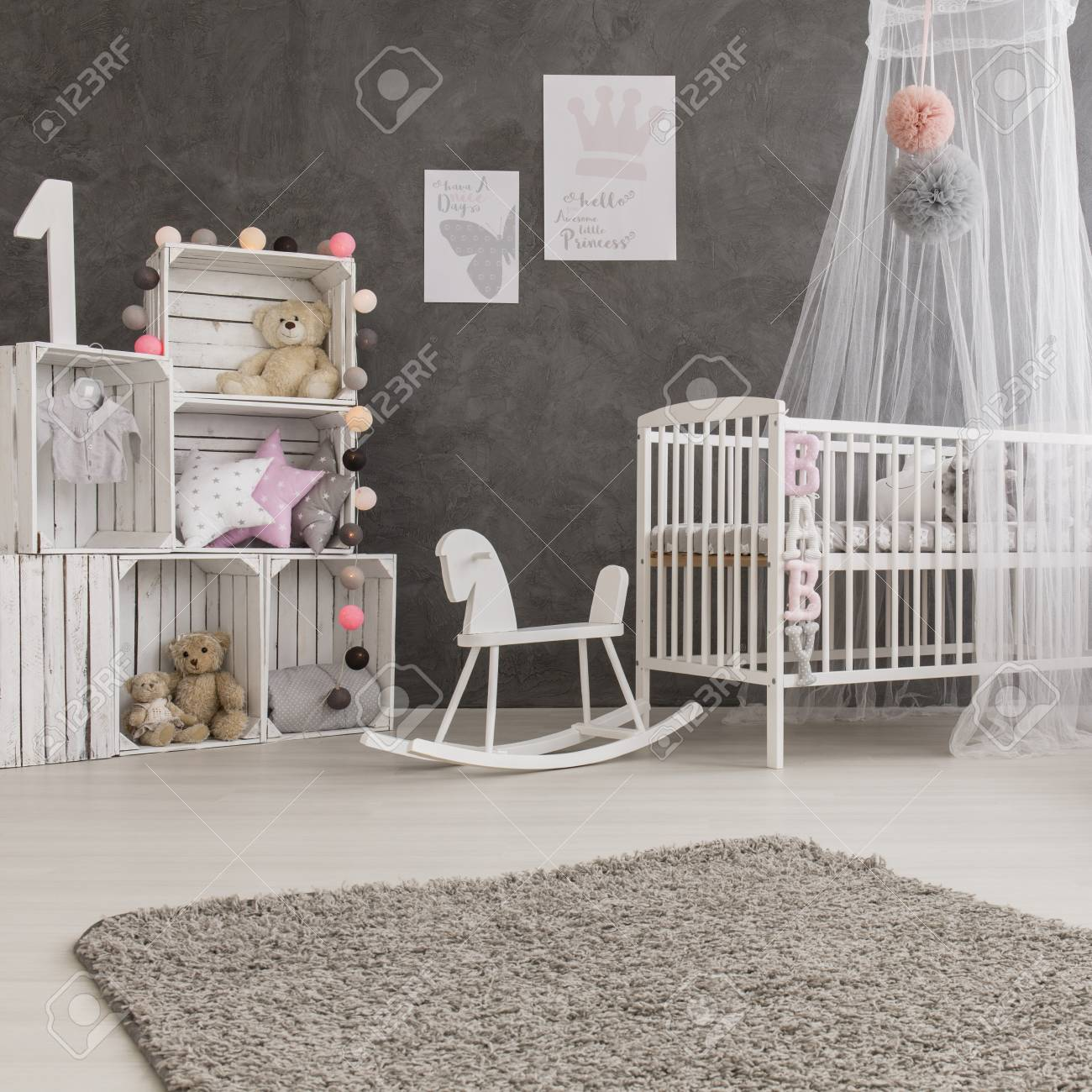 Himmelbett Baby Stock Photo