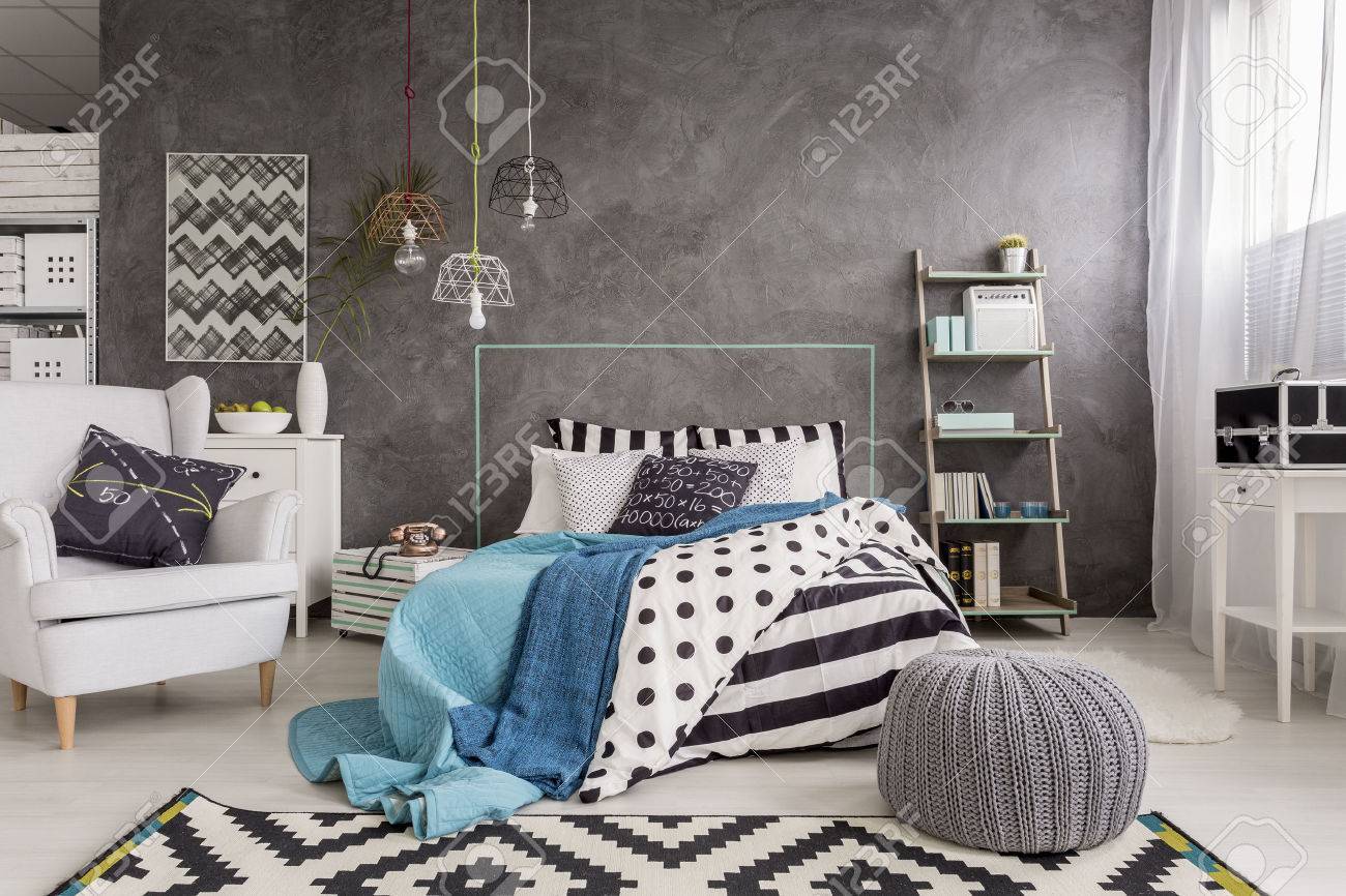 Sessel Schlafzimmer Design Stock Photo