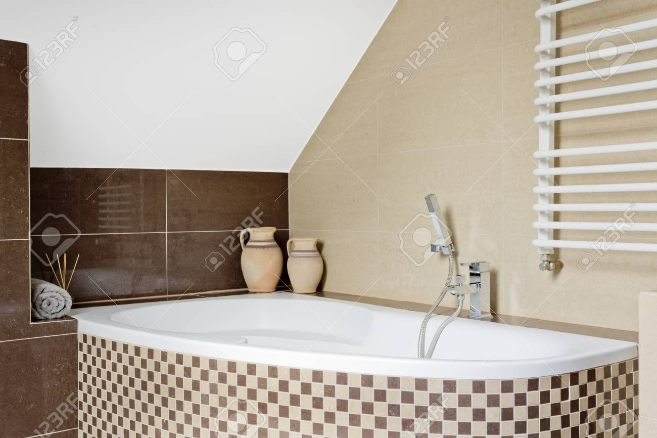Modernes Bad Mosaik Stock Photo