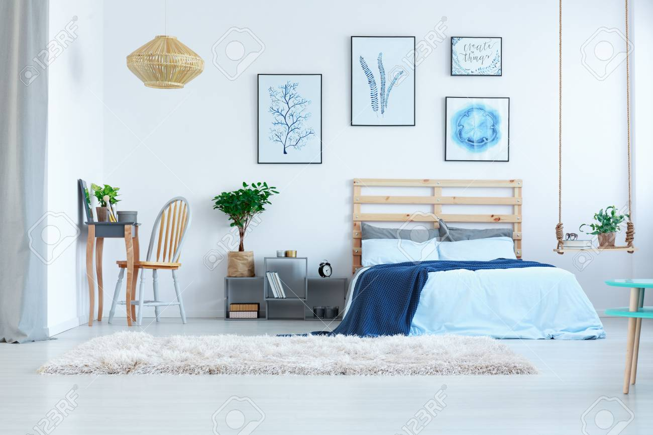 Dressing A Bed Beautiful White Bedroom With Dressing Table Bed And Wall Posters